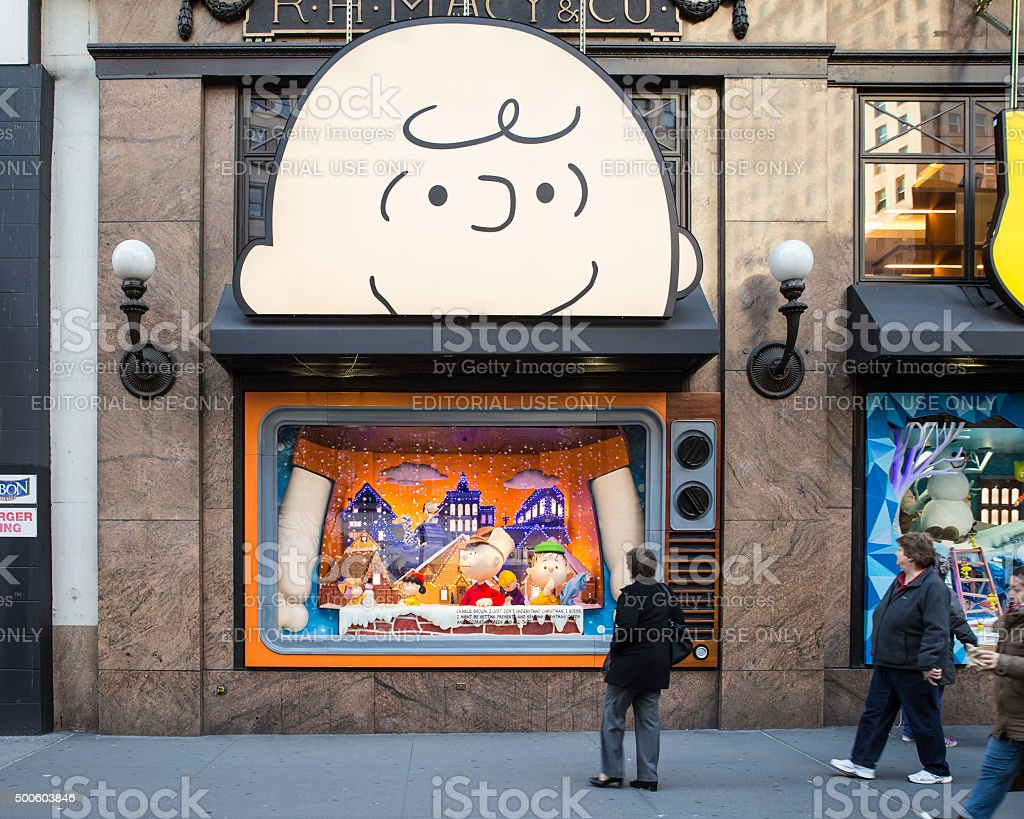 Macy's New York City Christmas stock photo