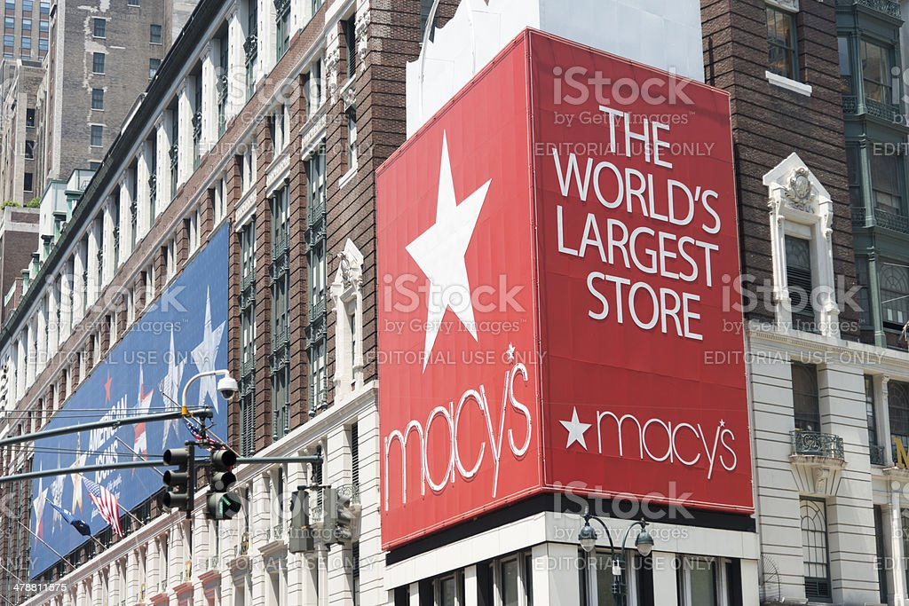 Macys New York City stock photo