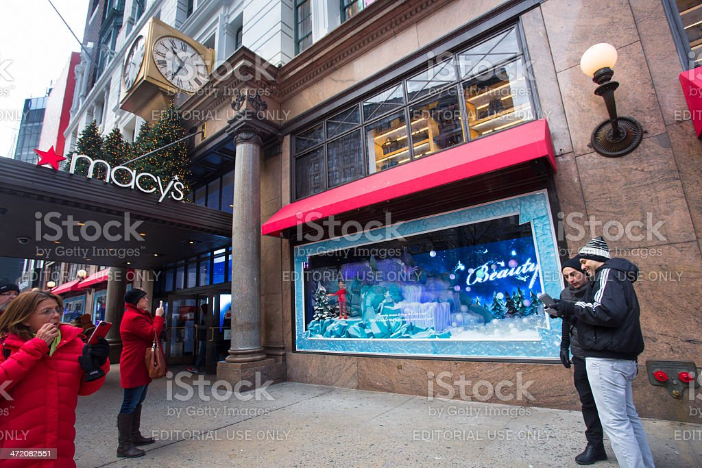 Macy's NYC Christmastime stock photo