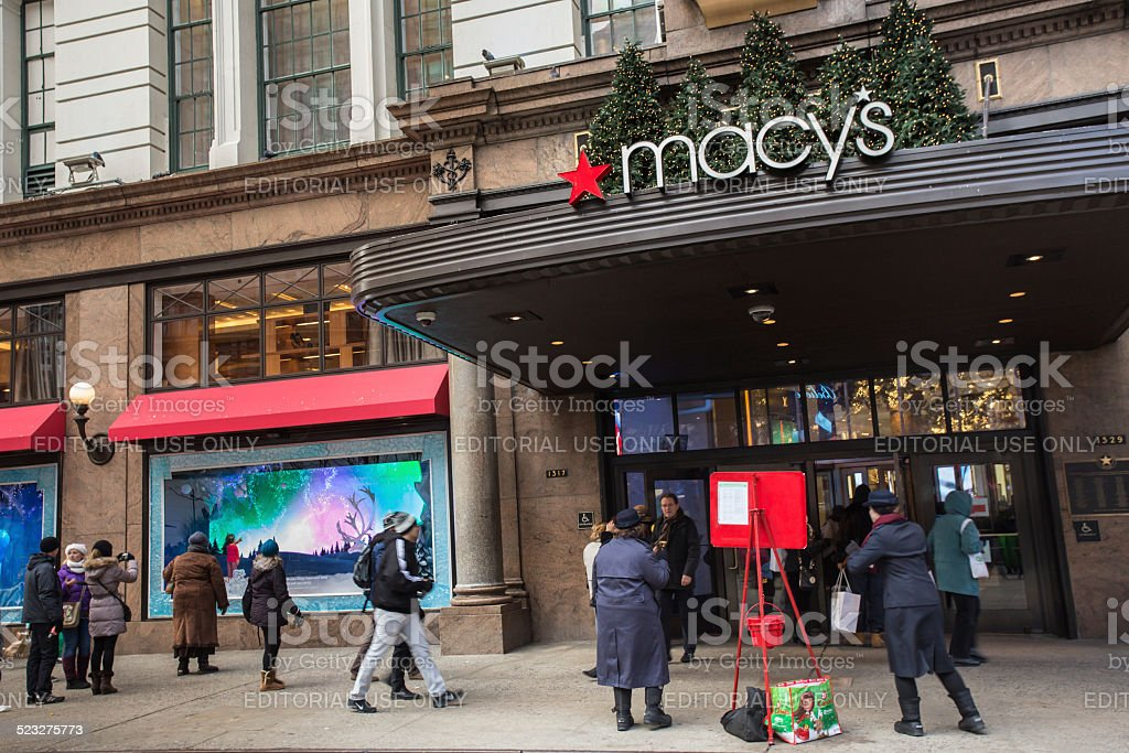 Macys NYC stock photo
