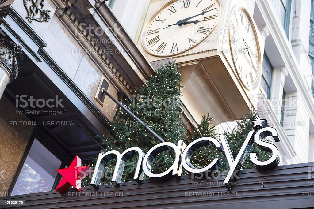 Macy's Sign Herald Square Manhattan stock photo