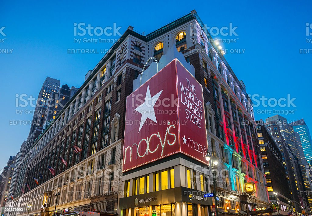 Macy's Store in New York stock photo