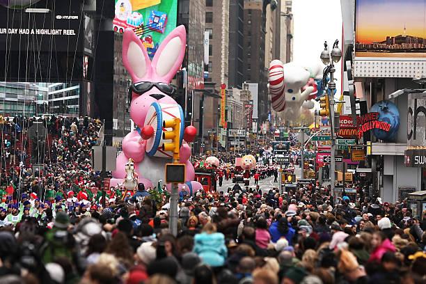 desfile do dia de ação de graças da macy's - desfiles e procissões - fotografias e filmes do acervo