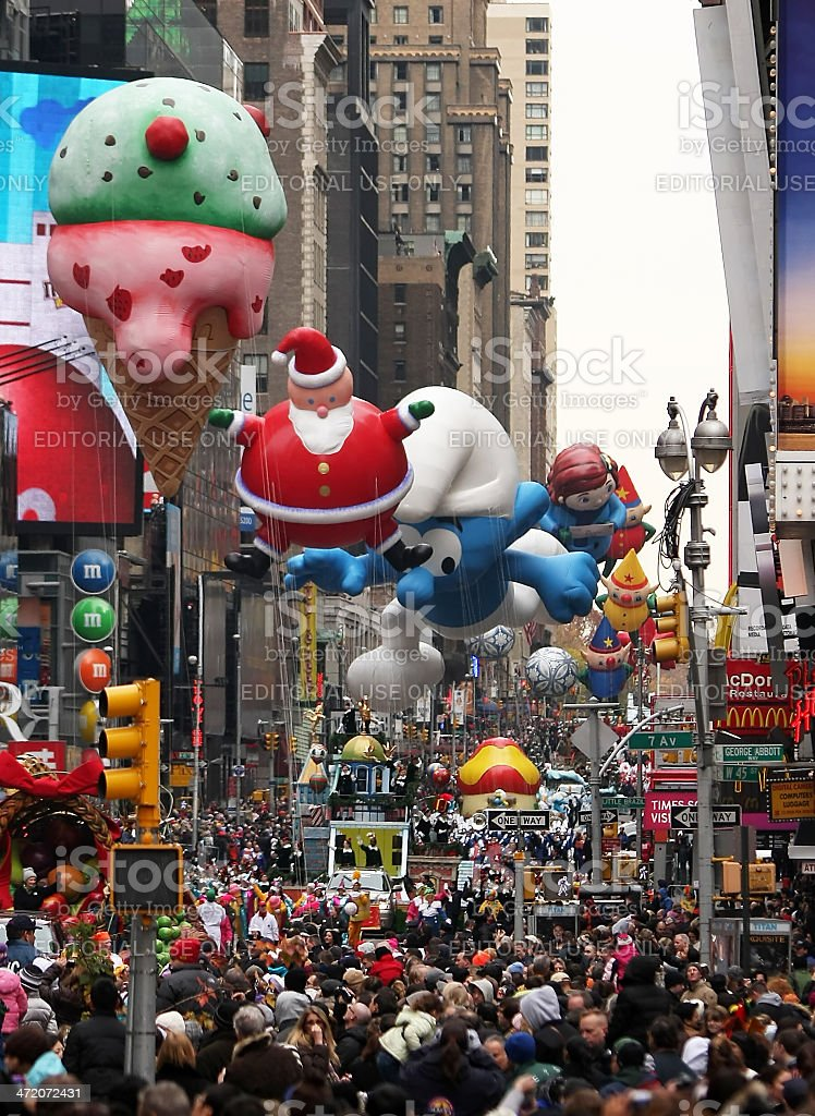 Macy's Thanksgiving Day Parade stock photo