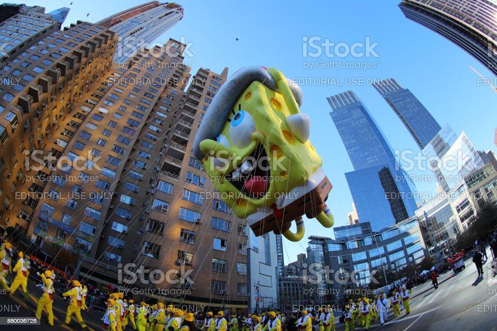 Desfile do Dia de Ação de Graças da Macy's - foto de acervo