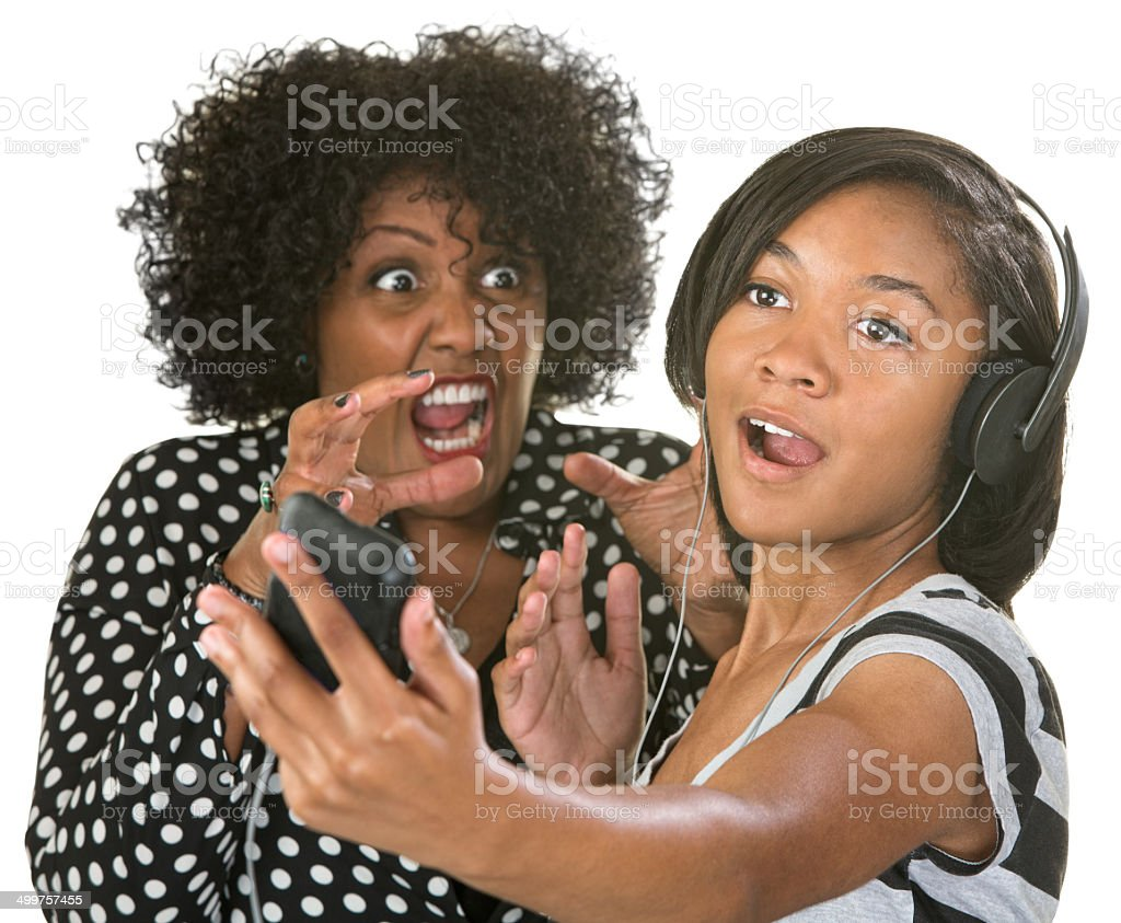 Mad at Loud Person stock photo