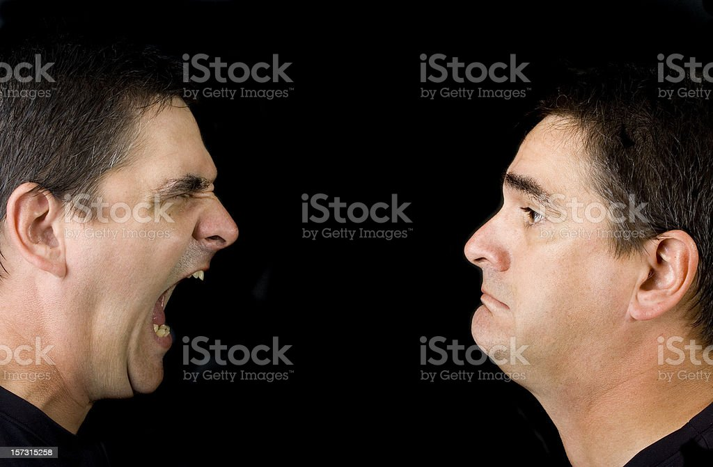 Mad at me royalty-free stock photo