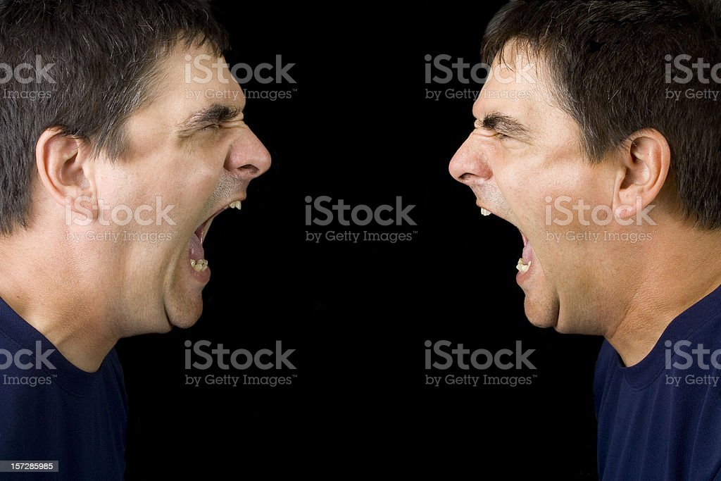 Mad at myself royalty-free stock photo