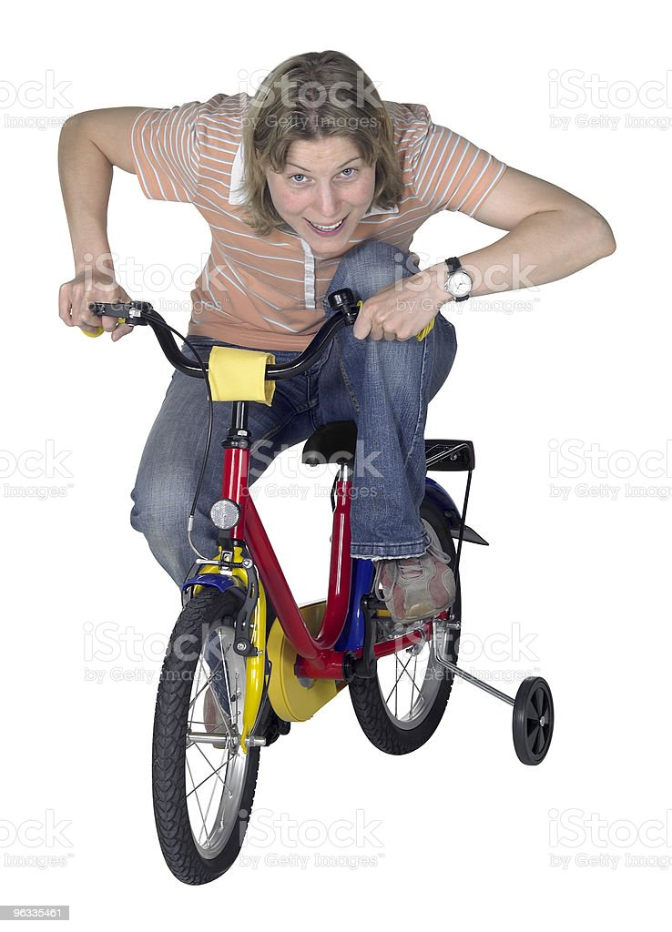 mad bicycling girl royalty-free stock photo