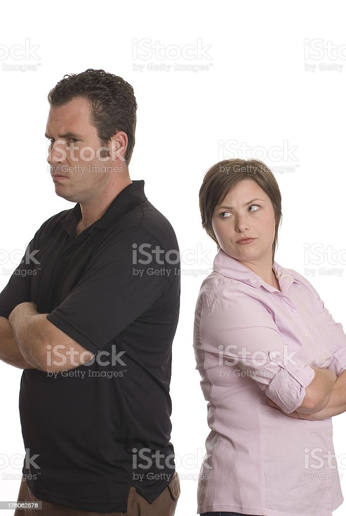 Mad Couple royalty-free stock photo