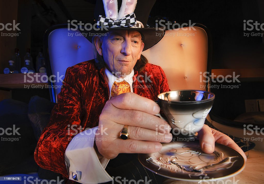Mad Hatter Tea Party royalty-free stock photo
