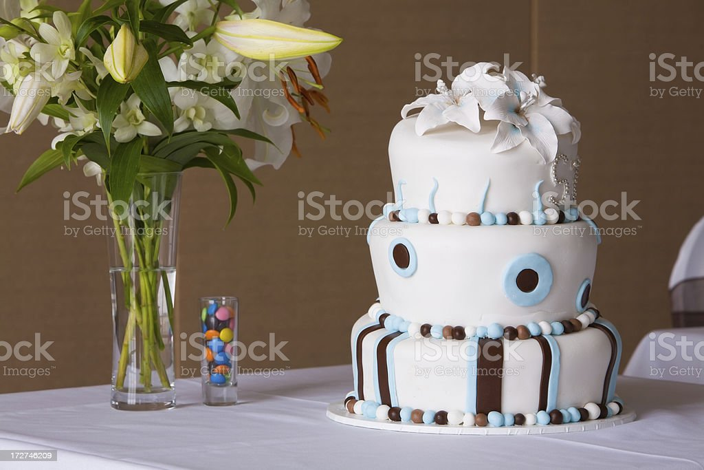 Mad Hatter Wedding Cake royalty-free stock photo