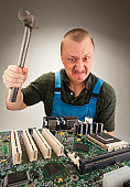istock Mad IT worker 152967162