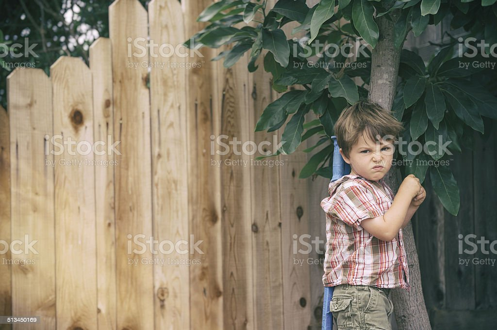 mad kid stock photo
