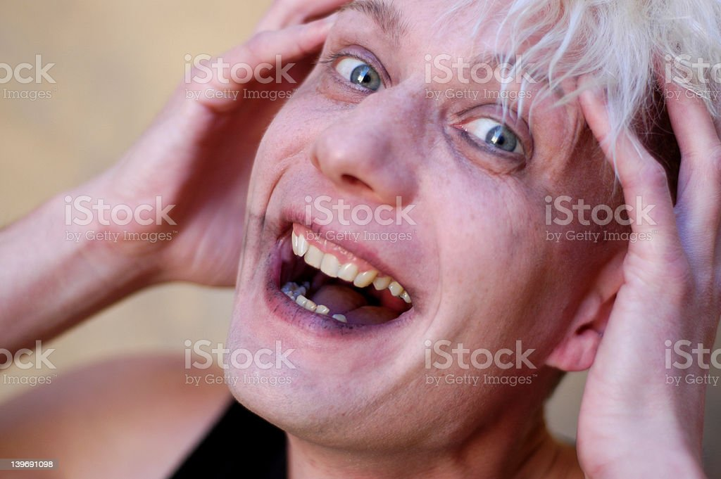 mad laughter stock photo