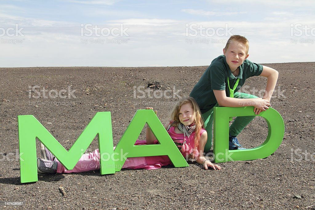 mad letters stock photo