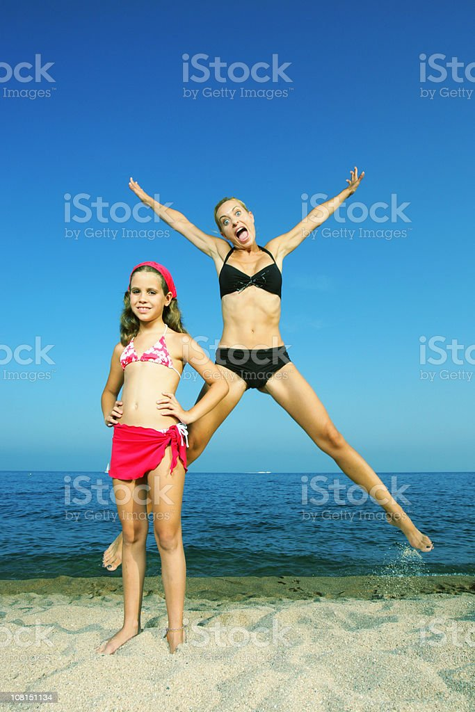Mad mom, quiet child stock photo