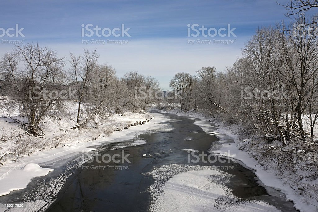 Mad River Vermont stock photo