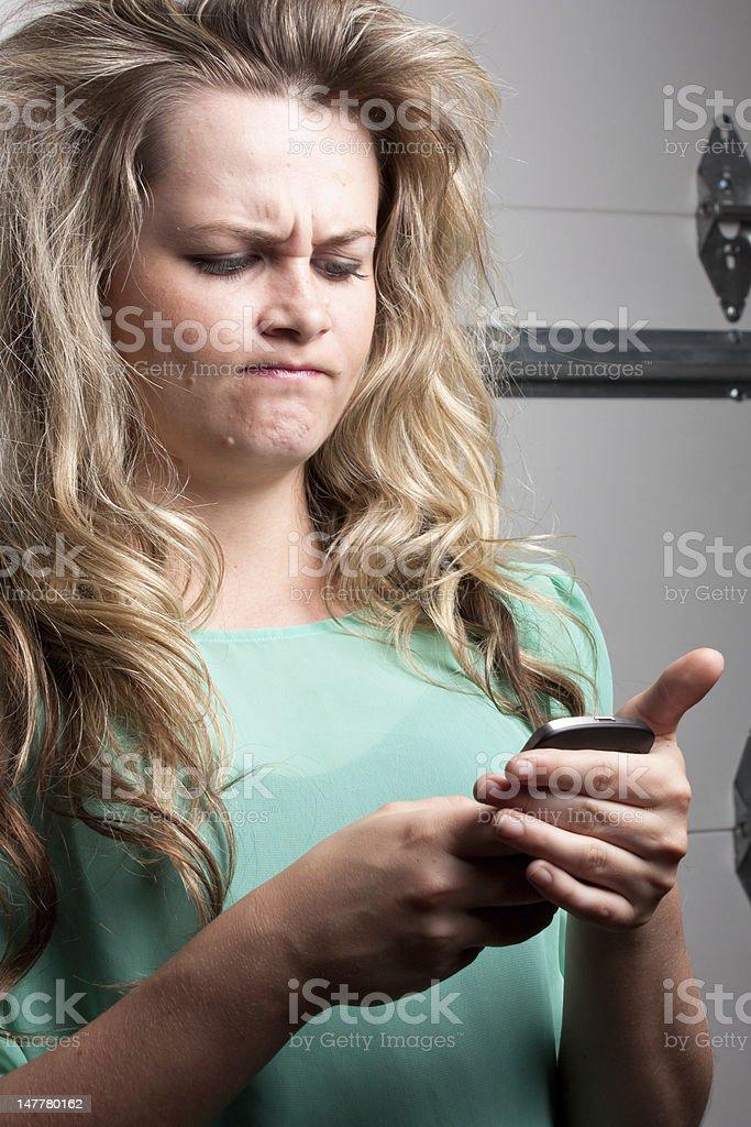 Mad text stock photo