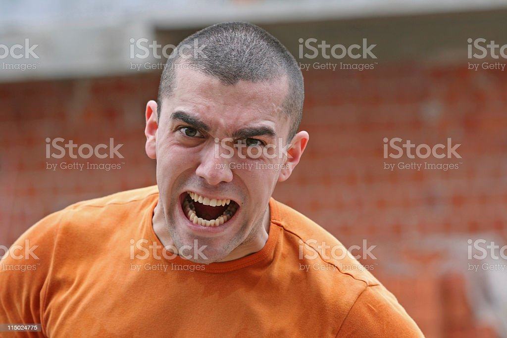Mad worker royalty-free stock photo