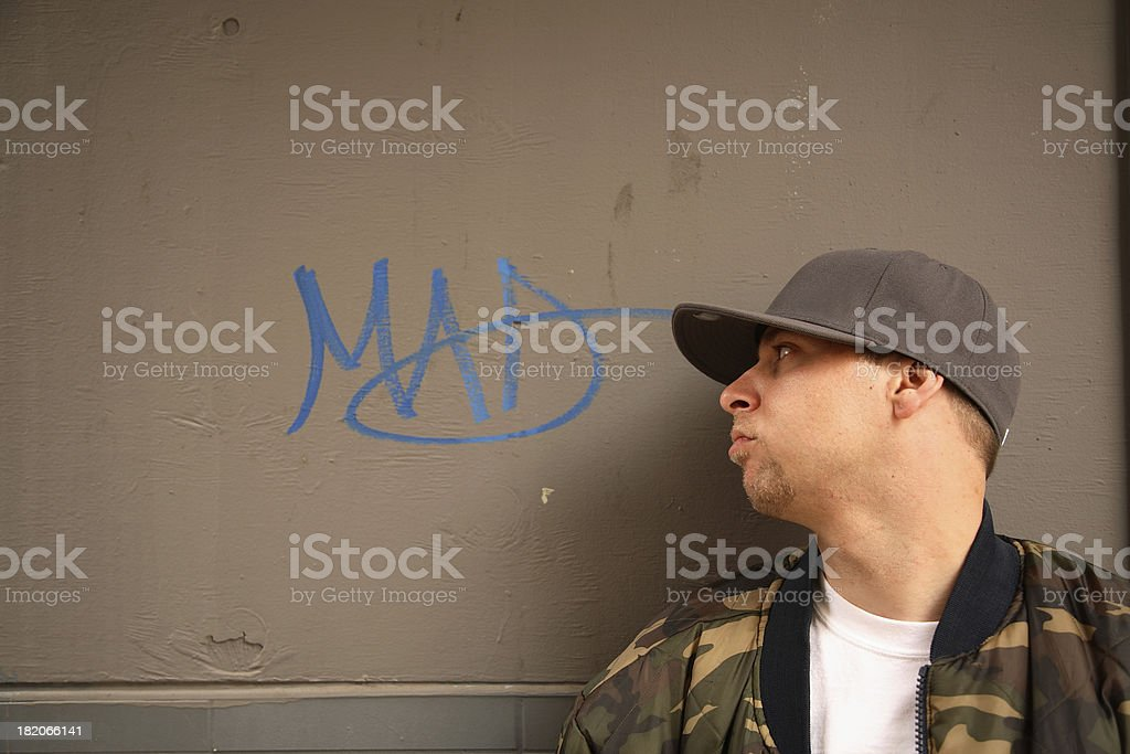 Mad Young Man royalty-free stock photo