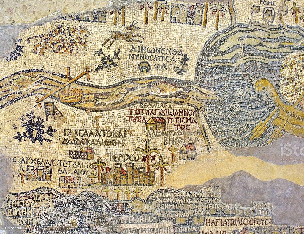 Madaba Map stock photo