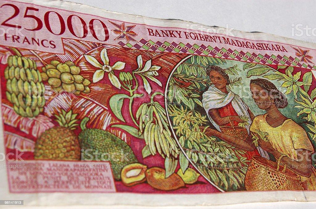 마다가스카 지폐 fruitpicking royalty-free 스톡 사진
