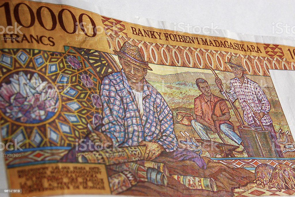 Madagascar craft banknote royalty-free stock photo