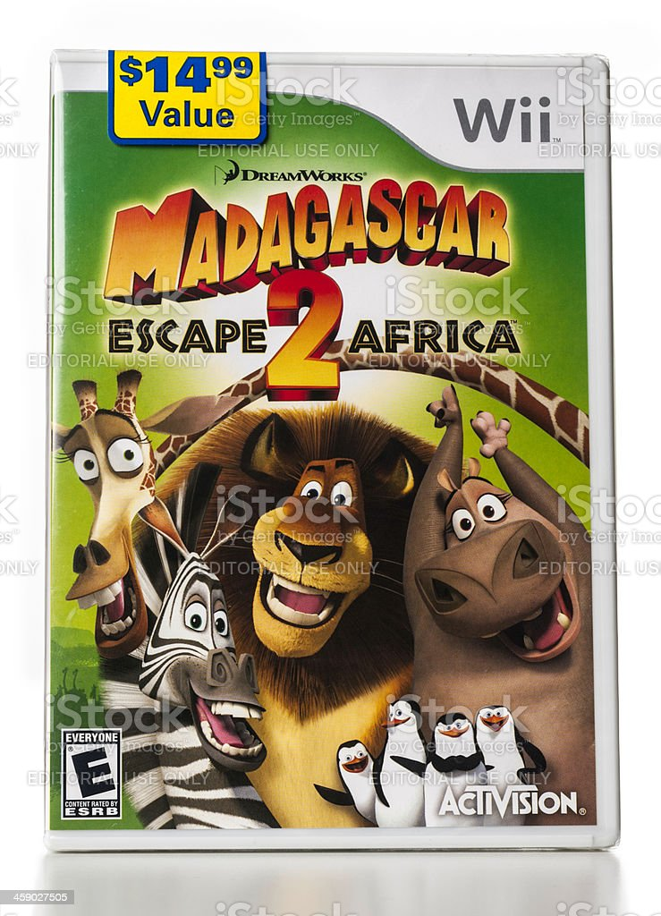 Madagascar Escape 2 Africa Wii game royalty-free stock photo