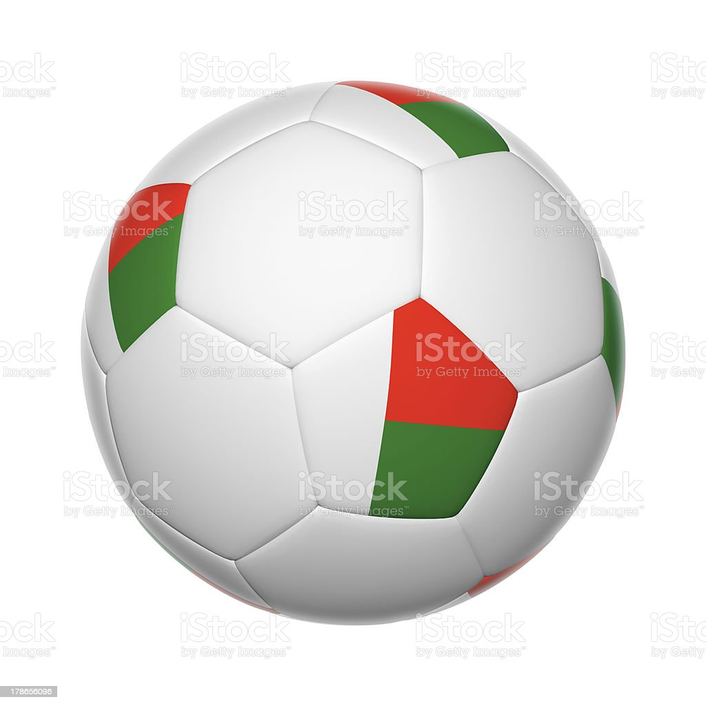 Madagascar soccer ball stock photo