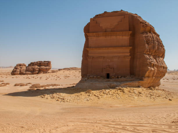 Madain Saleh, archaeological site with Nabatean tombs in Saudi Arabia (KSA) stock photo