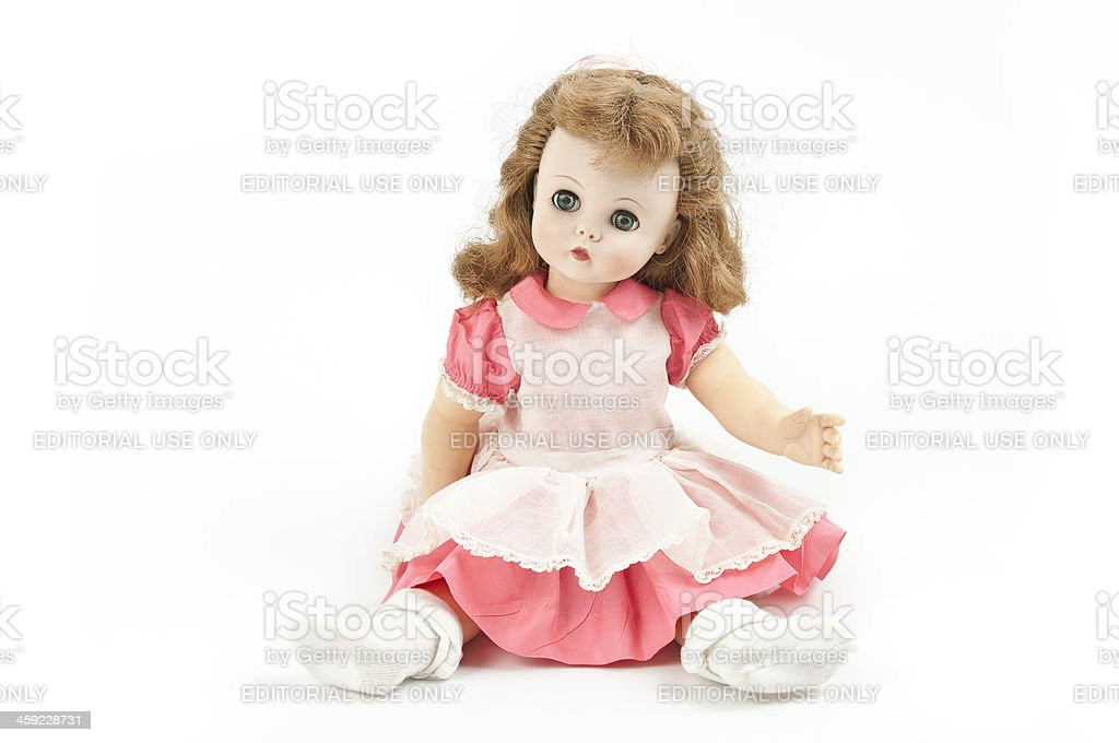 Madame Alexander Kelly Doll Seated stock photo
