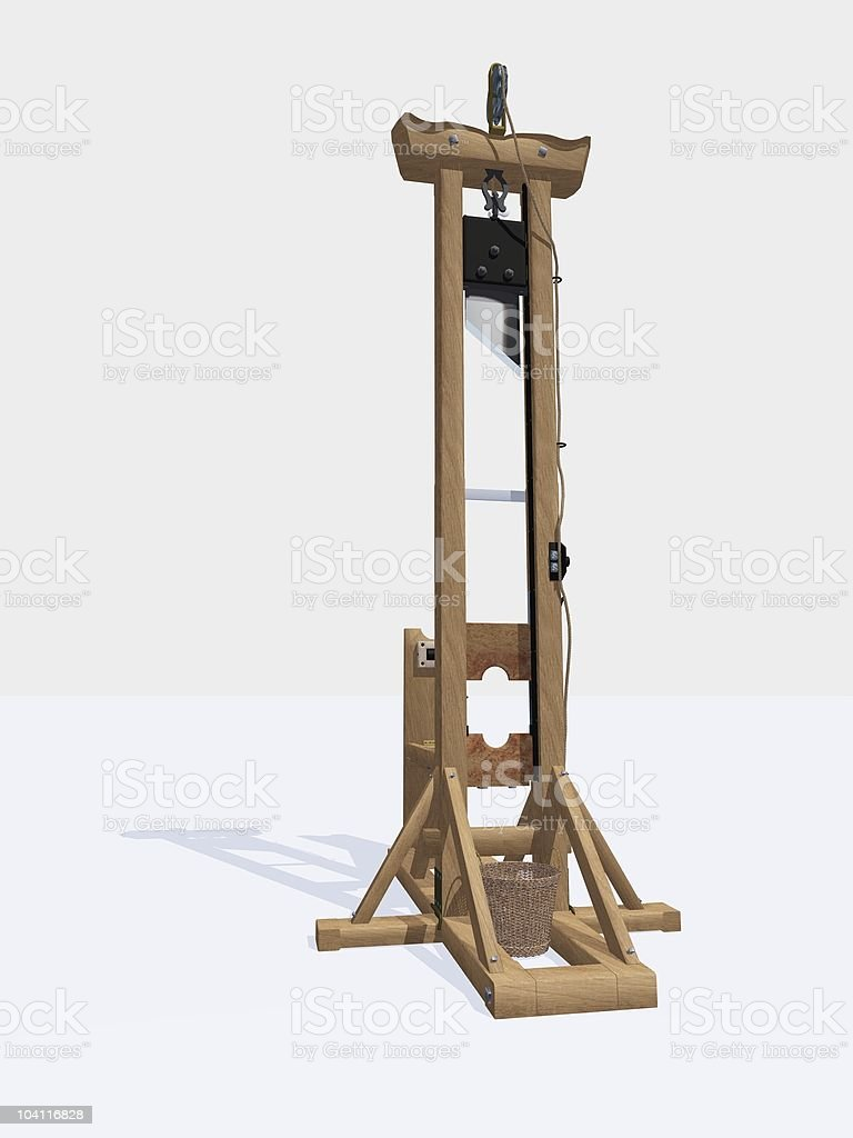 Madame La Guillotine stock photo