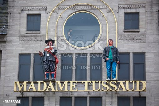 Amsterdam, Netherlands - October 6, 2010: Madame Tussauds on Dam Square in Amsterdam.