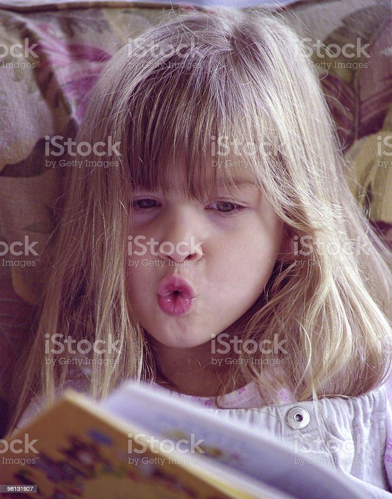 Maddie reading royalty-free stock photo