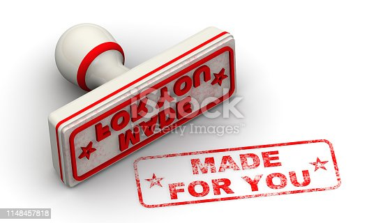 1181637623istockphoto Made for you. Seal and imprint 1148457818