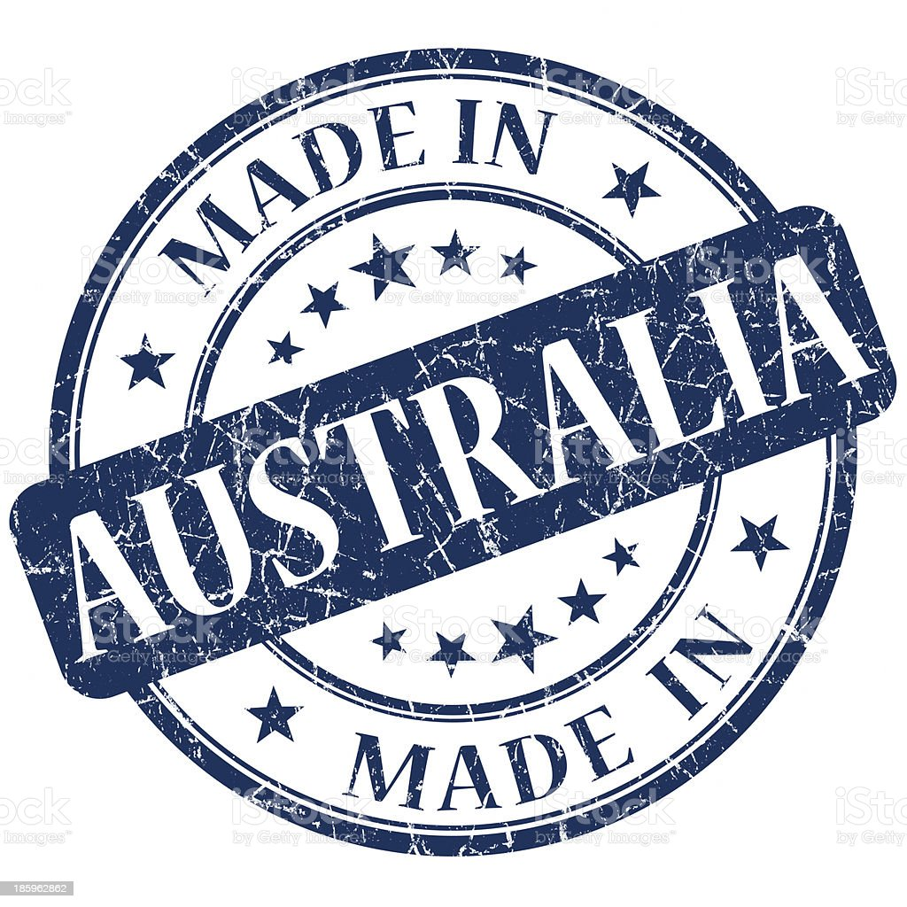 made in Australia stamp royalty-free stock photo