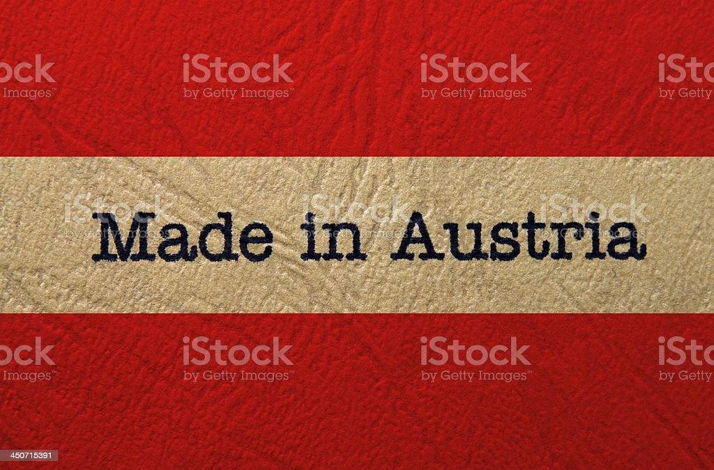 Made in Austria stock photo