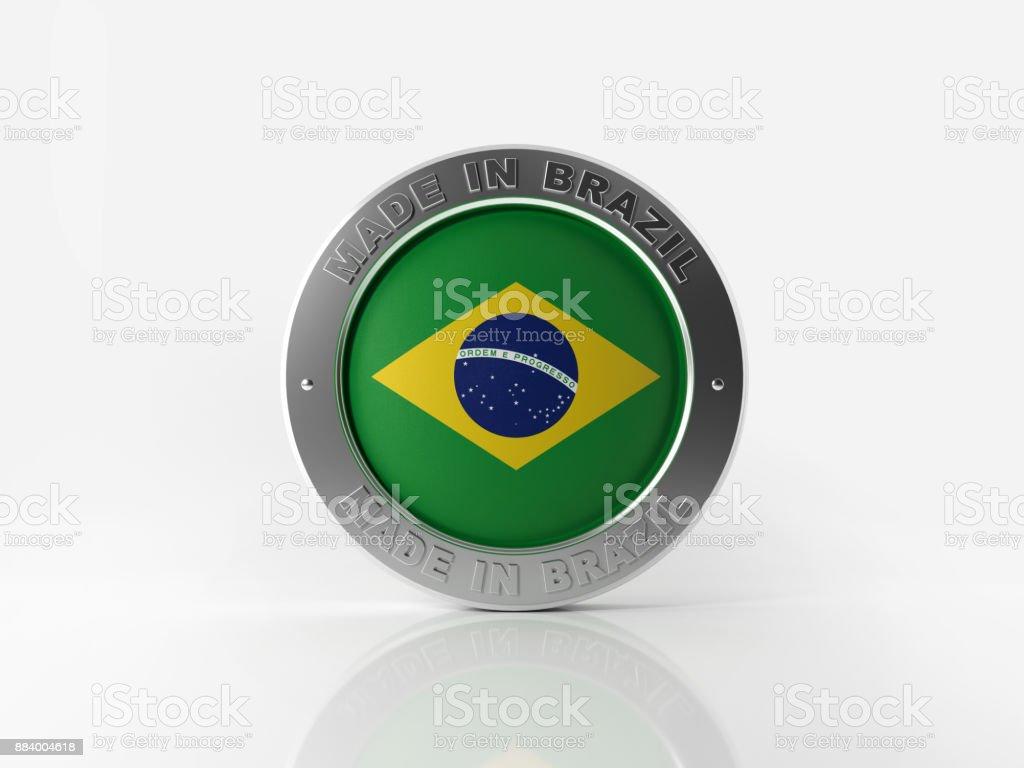 Feita no Brasil distintivo no fundo branco - foto de acervo
