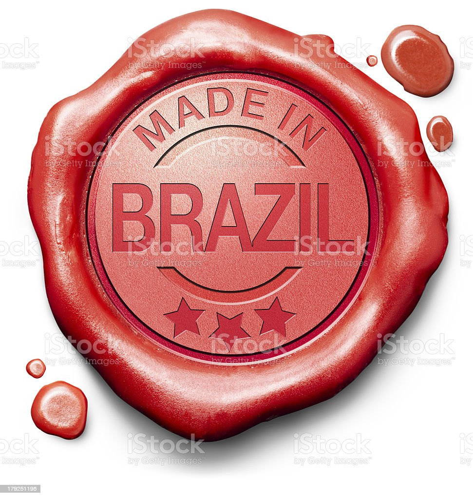 made in Brazil royalty-free stock photo
