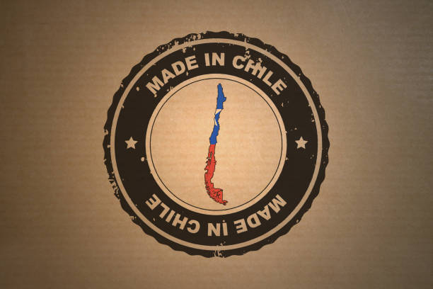 Made in Chile stock photo