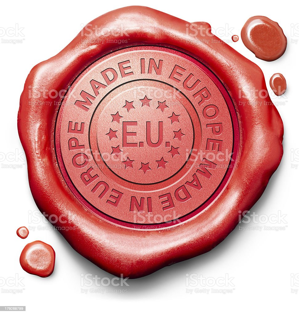 made in Europe royalty-free stock photo