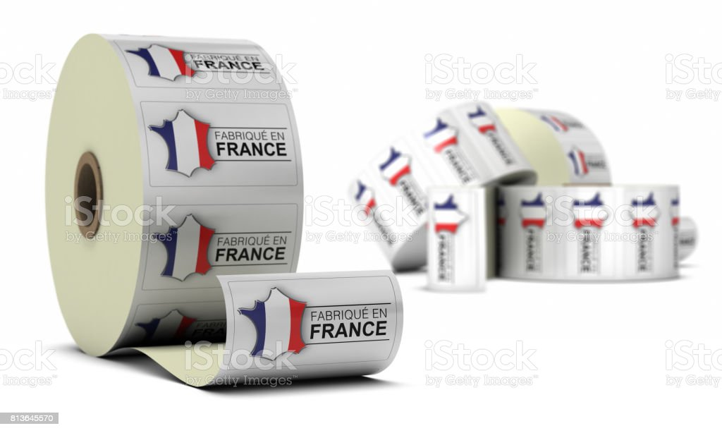 Made In France, Stickers stock photo