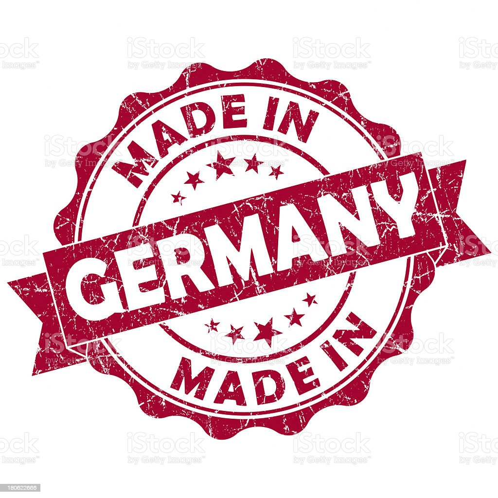 made in germany stamp royalty-free stock photo