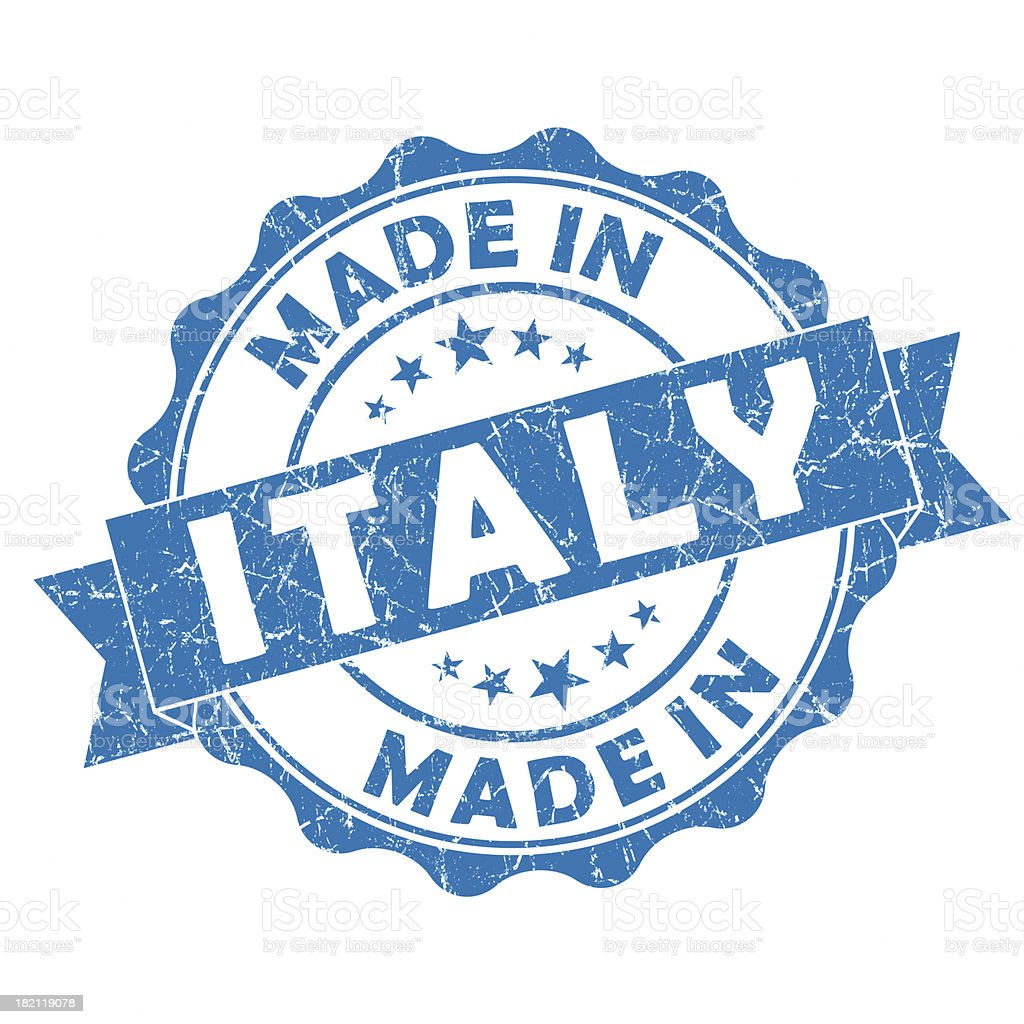 made in Italy grunge stamp royalty-free stock photo