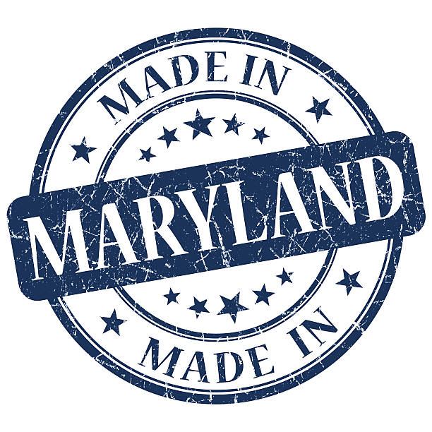made in Maryland blue round grunge isolated stamp made in Maryland blue round grunge isolated stamp maryland us state stock pictures, royalty-free photos & images
