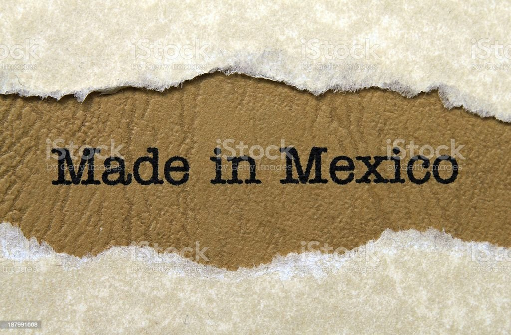 Made in Mexico stock photo