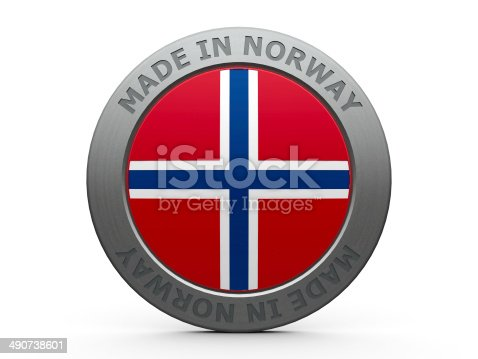 Emblem - made in Norway, three-dimensional rendering