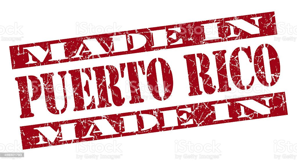 made in Puerto Rico grunge red stamp stock photo