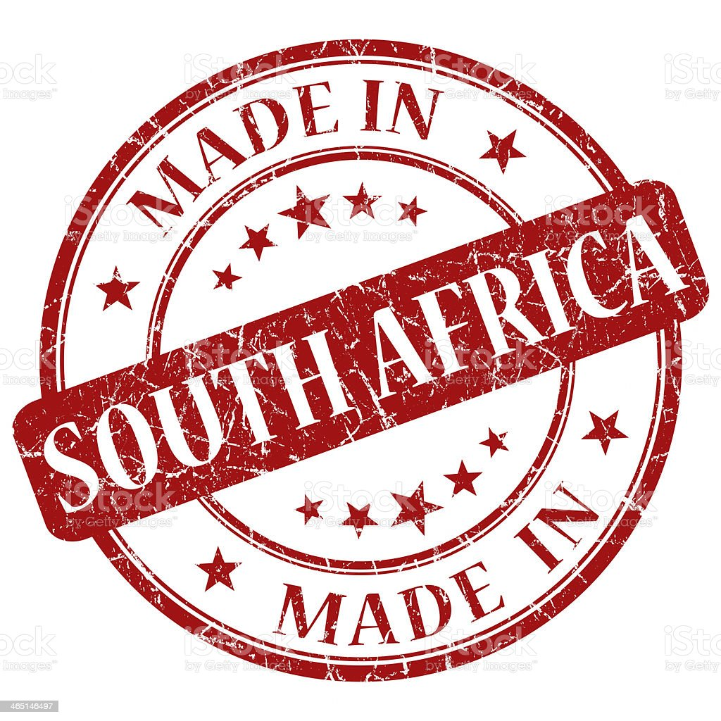 made in south africa stock photo